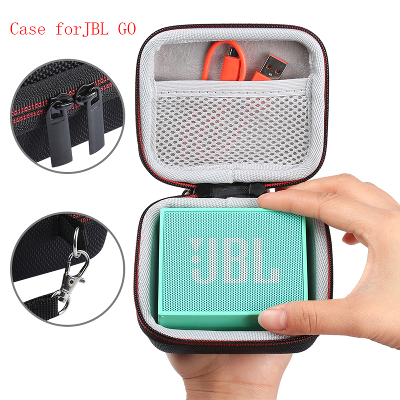 2019 NEW Wireless Bluetooth Hard EVA Speakers Case With Mesh Pocket For JBL GO For Charger Cables Band Zipper Holding Hands Bag
