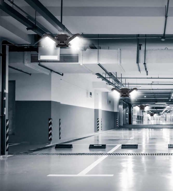 commercial lighting full area workshop