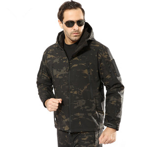 Image 4 - Military Jacket Men Winter Camouflage Tactical Waterproof Windbreaker Hooded Male Camo Coat Plus Size 5XL Bomber Army Jacket Men