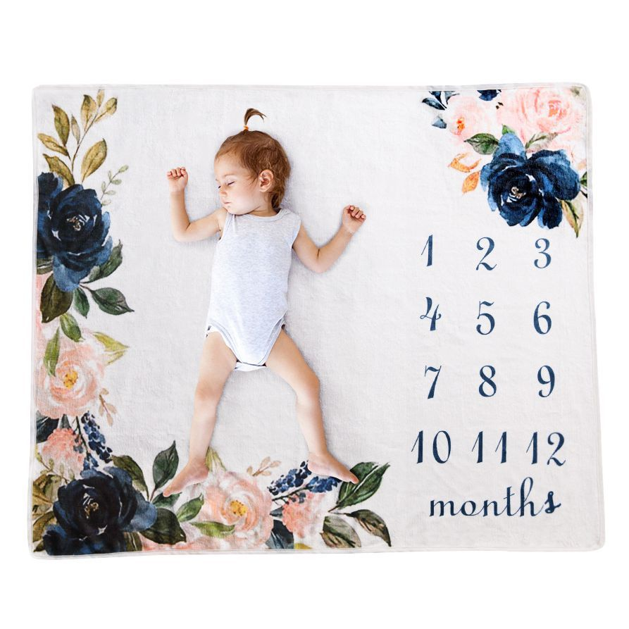 Ins hot ewborn baby Monthly Growth Milestone Background Blanket photo props Cloth for Rug baby boy girls Photography Accessories image