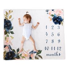Ins hot ewborn baby Monthly Growth Milestone Background Blanket photo props Cloth for Rug baby boy g