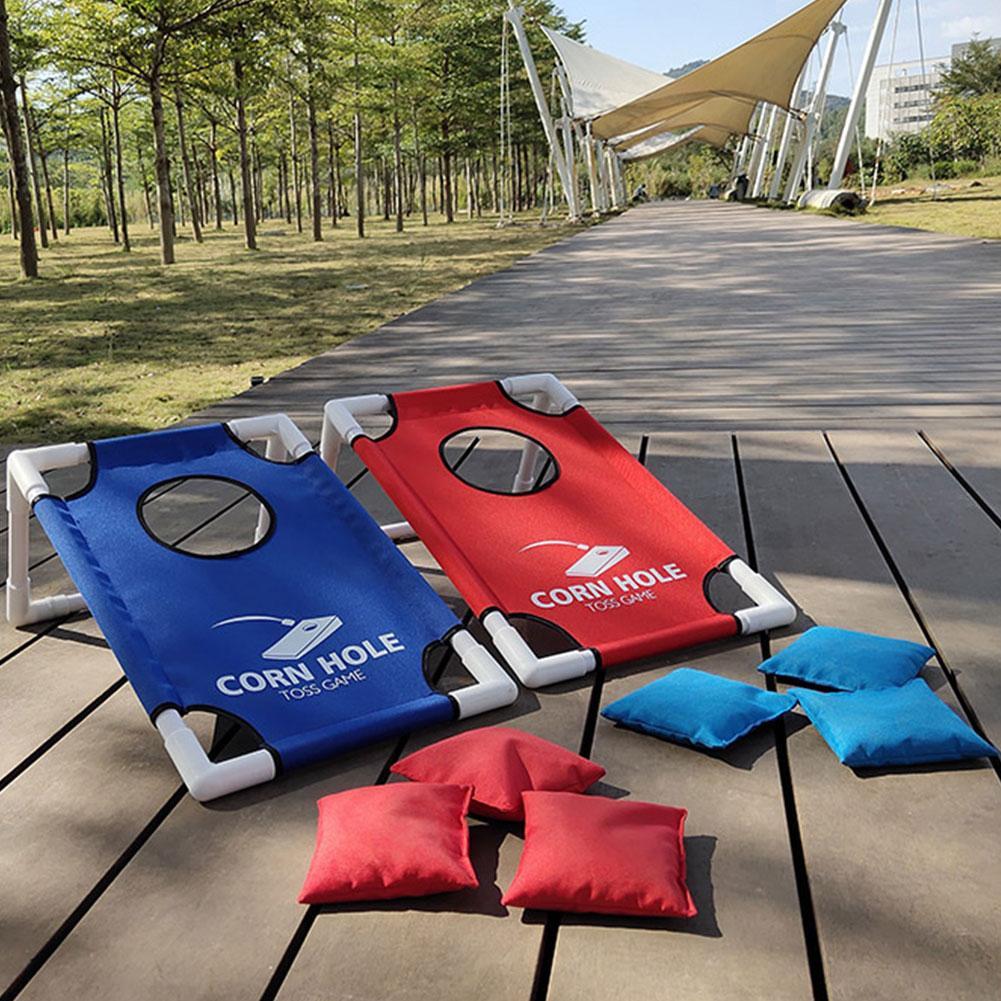 2 Cornhole Board with 8 cornhole bean bags Games Backyard Cornhole Set Tailgate Corn Toss Boards Bean Bags Lawn Yard Game