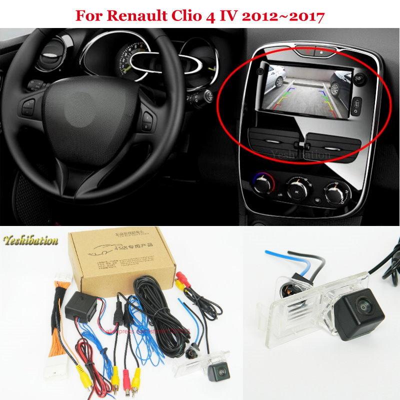 Car Rear View Camera For Renault Clio 4 IV 2012 2018 - Back Up Reverse Camera RCA  amp  Original Screen Compatible