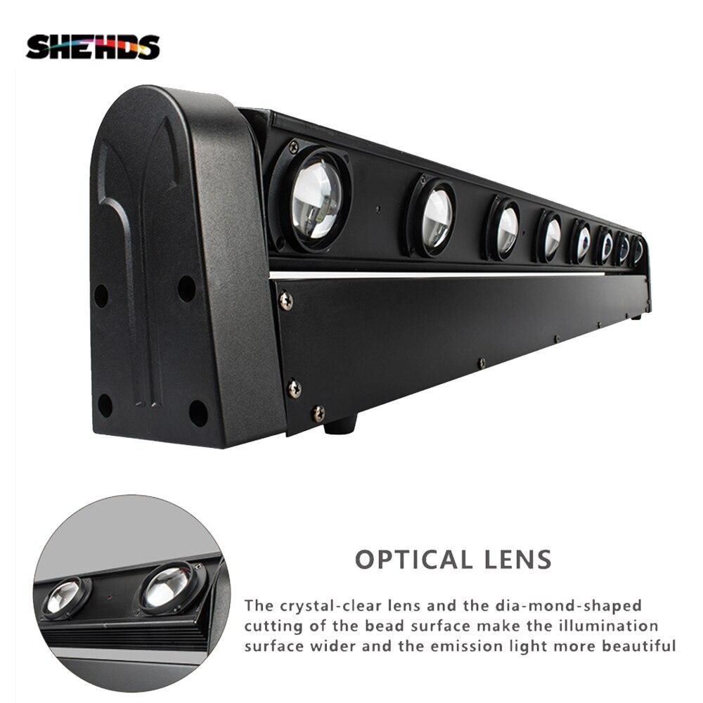 SHEHDS горячая Распродажа отличный светодиодный луч движущаяся головка световая панель 8x12 Вт RGBW сцсветильник освещение DMX512 DJ оборудование Бе...