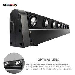 SHEHDS gran oferta perfecto LED haz de luz con cabezal móvil barra de sonido 8x12W RGBW de iluminación de escenario DMX512 equipos de DJ envío gratis y rápido