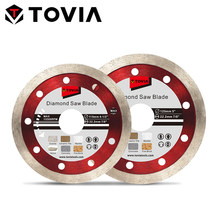 TOVIA 125mm Diamond Saw Blade Wet Cutting Ceramic Tile Marble Stone 115mm Saw Disc for Angle Grinder Super Thin Cutting Blade