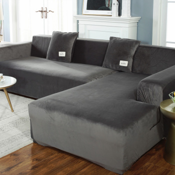 Plush Sofa Cover Velvet Elastic Leather Corner Sectional For Living Room Couch Covers Set Armchair Cover