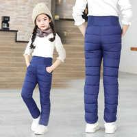 Enfant en bas âge enfant garçons filles hiver pantalon coton rembourré épais chaud pantalon imperméable Ski pantalon 9 10 12 ans taille haute Leggings bébé