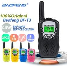 2pcs Wholesale Children Mini Kids UHF Walkie Talkie BF T3 Baofeng FRS Two Way Radio Comunicador T3 Handy Talkie Hf Transceiver