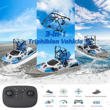 RC mini drone boat remote control mini drone boat helicopter vehicle boy girl flying ship helicopter remote control toy 2.4 GHz(China)