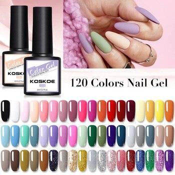 KOSKOE 24 Colors 8ml UV Gel Nail Polish Purple Nail Glitter Holographics Soak Off UV Nail Art Gel Nail Varnish Gel for Nail недорого