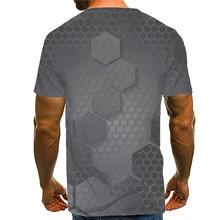 Summer Popular 3D Geometric Modeling T Shirt Creative Character Men T-shirt Casual Sports Shirt Funny T-shirt funny t shirts