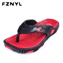 men soft massage beach slippers comfortable flip flops for men gold blue bathroom slippers mens casual beach shoes male FZNYL 2020 New Arrival Men Flip Flops Sandals Soft Comfortable Health Foot Massage Beach Slippers Mens Indoor Home Casual Shoes