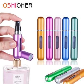 Портативный многоразовый мини-флакон для духов OSHIONER, 5 мл/8 мл, Алюминиевый распылитель, бутылка с пульверизатором для путешествий, контейнер с духами