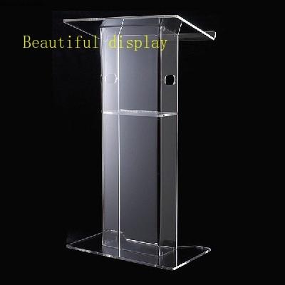 Transparent 12mm Plexiglass Pulpit,Acrylic Lectern,Acrylic Church Podium Stand Plexiglass