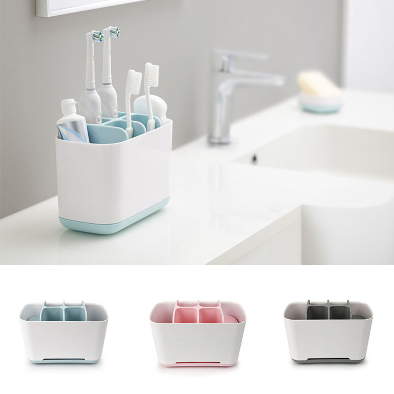 2 Size Toothbrush Holder Case Shaving Makeup Brush Electric Toothbrush Toothpaste Holder Organizer Stand Bathroom Accessories image