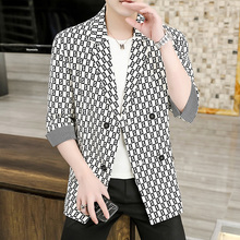 Jackets Blazer Clothing Korean-Suit Loose Wedding Casual Business Tops Spring Male Men