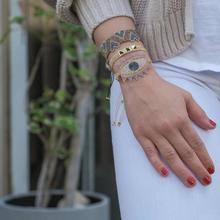 BLUESTAR Boho Evil Eye Miyuki Bead Bracelets Handmade Rivet Heart Braided MIYUKI For Jewelry