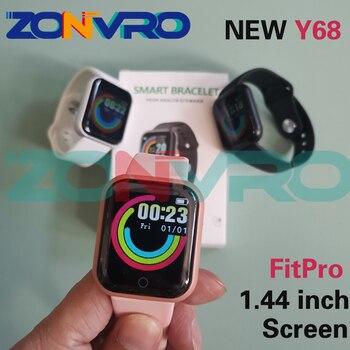 D20 Bluetooth Smart Watches Men Waterproof Sport Fitness Tracker Smart Bracelet Blood Pressure Heart Rate Monitor Y68 Smartwatch 1