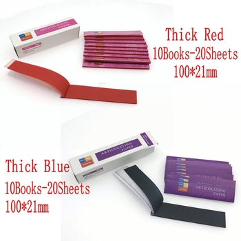 Blue/Red Dental Clinc Articulating Paper Strips Thick Strips 20 sheets/book 10 books/Box