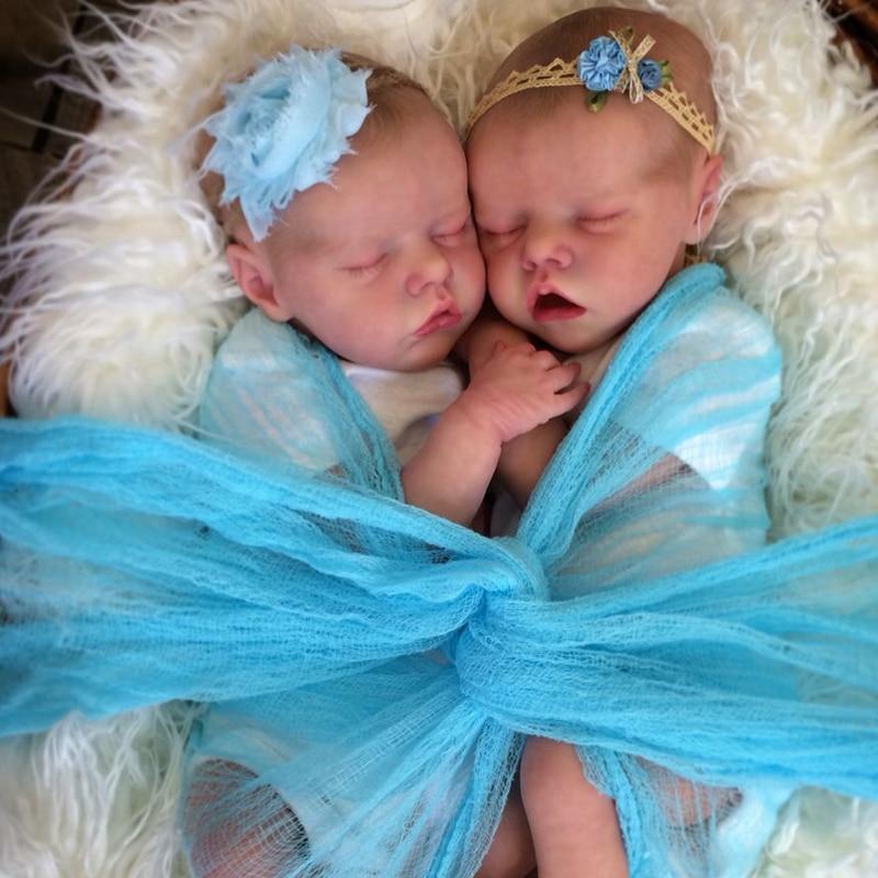 RBG DIY Blank Reborn Doll Kit Bebe Reborn Kit 17 Inches Reborn Baby Vinyl Kit Twin A Twin B Unpainted Unfinished Doll Parts