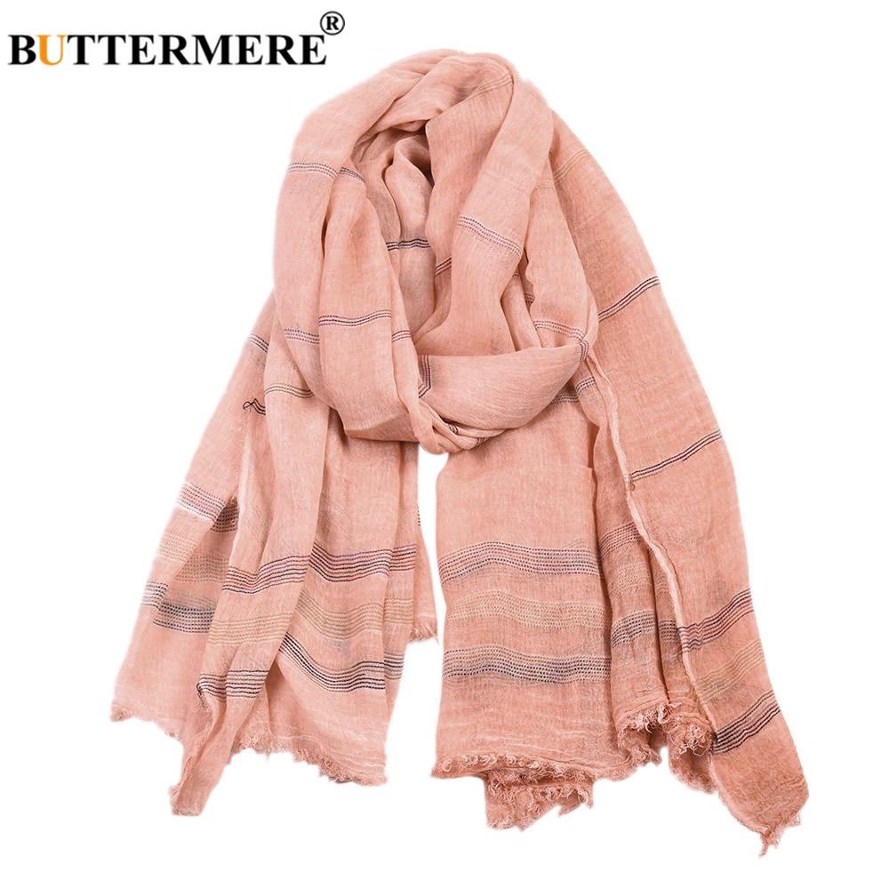 BUTTERMERE Men Scarves Warm Cotton Linen Pink Black Winter Long-Fashion-Brand Khaki Autumn