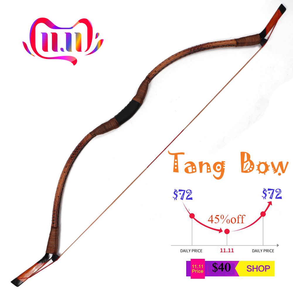 Clearance !!! 30-50Ibs Traditional Longbow Archery Target Wooden Hunting Bow Recurve Bow For Shooting Outdoor
