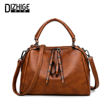 DIZHIGE Brand Luxury PU Leather Women Handbag High Quality Crossbody Bags For Vintage Large Capacity Rivet Shoulder Bag