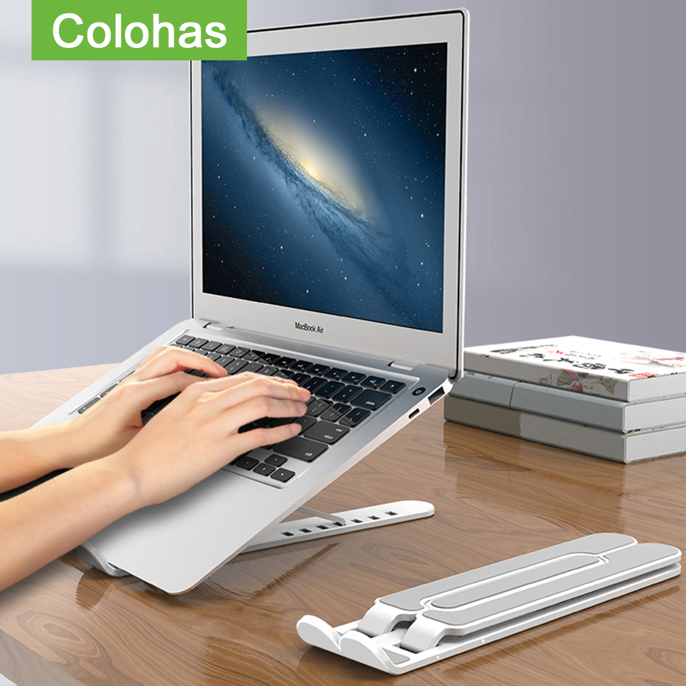 Adjustable Foldable Plastic Laptop Stand Notebook Lifting Cooling Holder Desk Laptop Stand For 7-15 inch Macbook Pro Air(China)