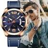 CRRJU Luxury Multi function Chronograph Men Wristwatch Fashion Military Sport Waterproof Leather Male Watch Relogio Masculino