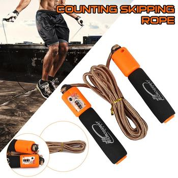 1PC Jump Skipping Ropes  Professional Sponge Skipping Aerobics Fitness Adjustable Speed Counting Skipping Home Fitness Equipment 1pc jump skipping ropes professional sponge skipping aerobics fitness adjustable speed counting skipping home fitness equipment