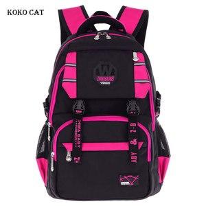 KOKO CAT Large Capacity Students Backpacks Breathable Nylon Junior High School Bag Book Bag for Boys Mochila Infantil Escolares