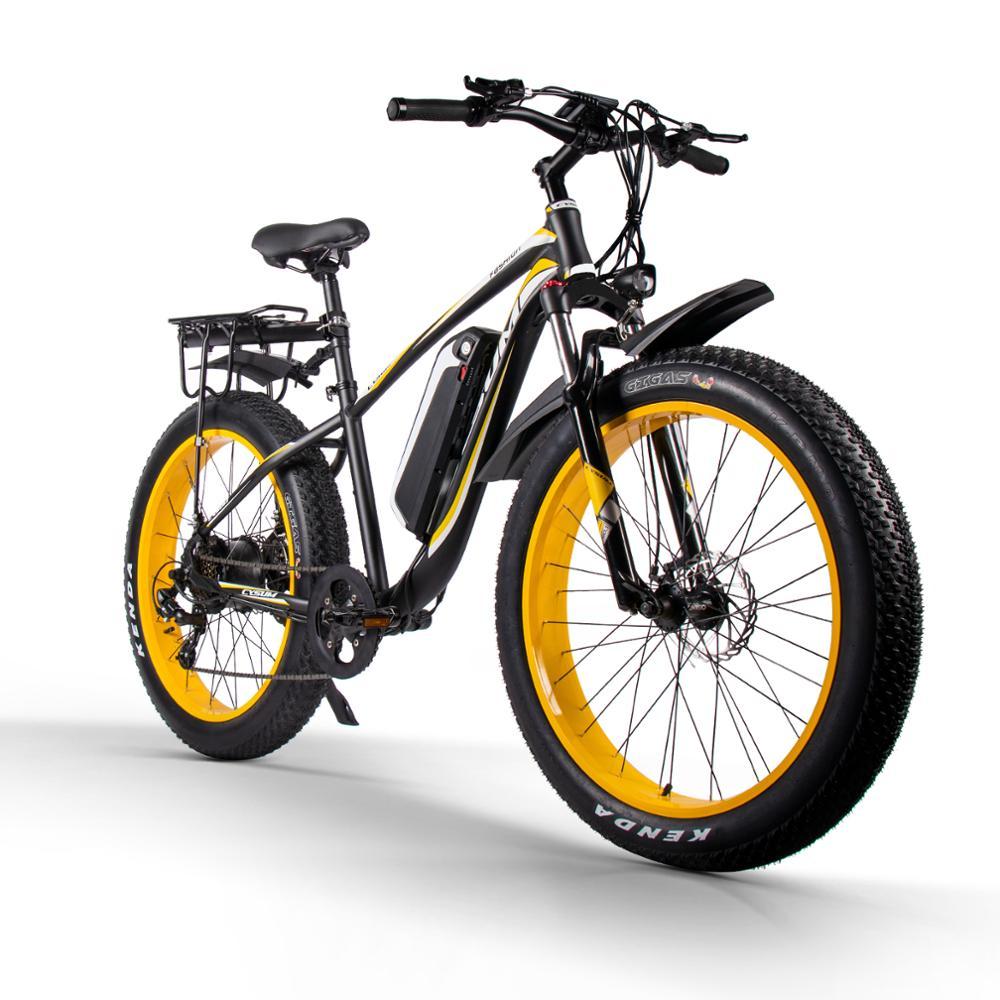 Cysucm980melectric bicicleta 1000w neve bicicleta elétrica 48v17ah bateria de lítio elétrica mountain bike 26 polegada 4.0 pneu gordura ebike