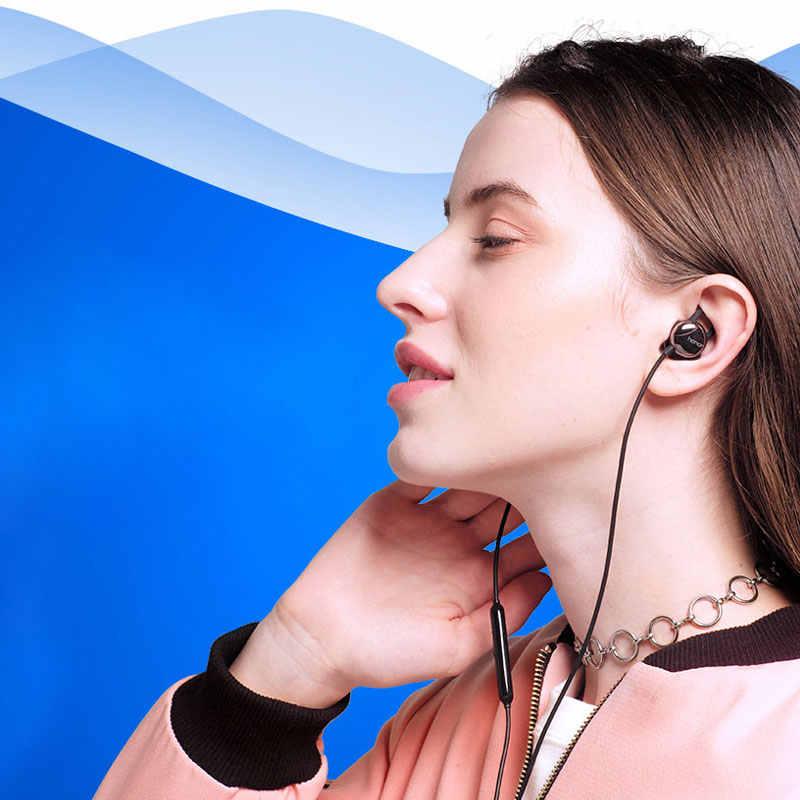 HONOR nastrój słuchawki AM16 słuchawki douszne kabel sterowania zestaw słuchawkowy dla aktywnych gry tętna smartfon muzyka słuchawki douszne