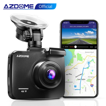 AZDOME 4K 2160P Dual Lens Built in GPS WiFi FHD 1080P Front + VGA Rear Camera Car DVR Recorder GS63H Dash Cam Night Vision onreal dash camera 8 0 touch 4g android gps dual lens car camera adas gps fhd 1080p wifi auto registrar rear view cam