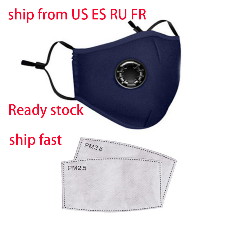 100 Pc Anti Pollution PM2.5 Mouth Mask Dust Respirator Washable Reusable Masks Cotton Unisex Cloth Cotton Dust Mask Filter Paper