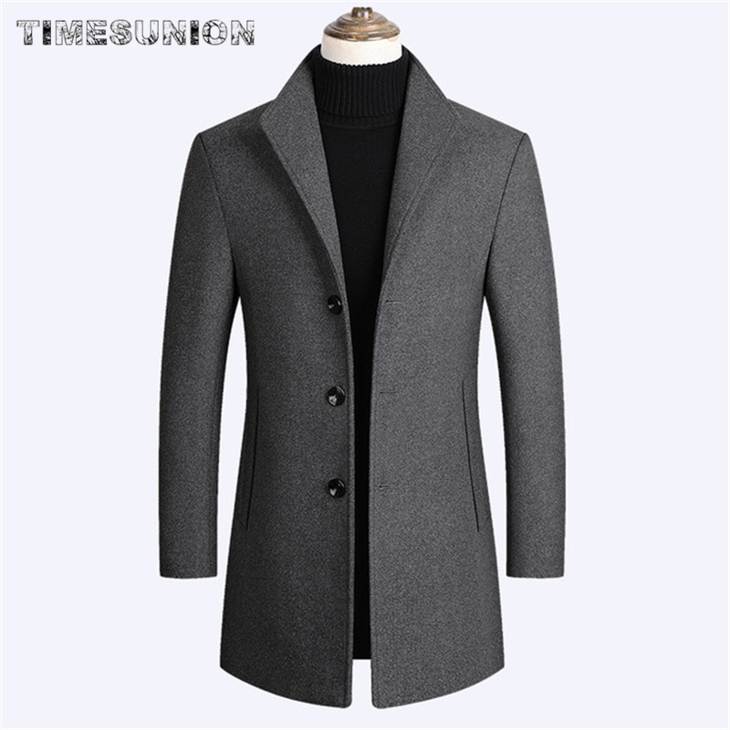 Man Wool Coat Autumn Winter Korean Fashion Solid Color High Quality Thick Men's Wool Jacket Luxurious Brand Clothing