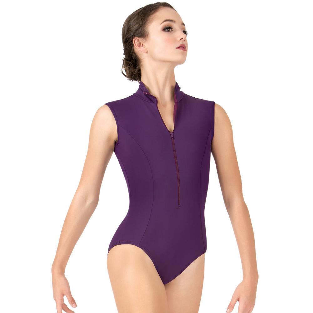 Ballet Leotard Zipper Front Tank Dance Leotard Gymnastics Leotard Ballet Leotards For Women Ballerina Dancewear Adult Leotards
