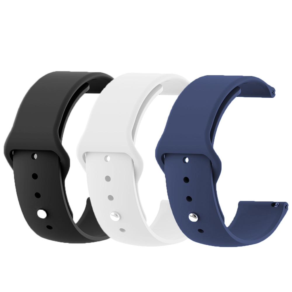 For B57 Watchband Silicone Replacement Bracelet For B57 Smartwatch 16mm Sport Wristband Of B57 Pure Color Belt