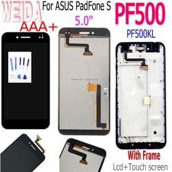 """5.0 """"dla ASUS padfone S PF500KL wyświetlacz LCD montaż digitizera ekranu dotykowego dla ASUS PF500KL PF500 PF 500KL T00n ramka ekranu w Ekrany LCD do tel. komórkowych od Telefony komórkowe i telekomunikacja na"""