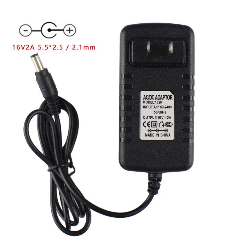 New 16V 2A 5.5*2.5 / 2.1mm Center Positive AC DC Adapter For Booster PAC ESA22 ES2500KE ES2500 ESA217 ES5000 ESP5500 Charger