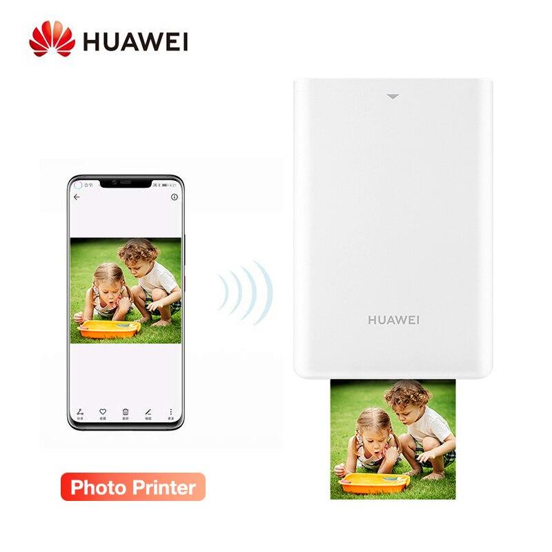 Huawei ar impressora portátil photo pocket mini impressora diy impressoras de fotos para smartphones bluetooth 4.1 300dpi