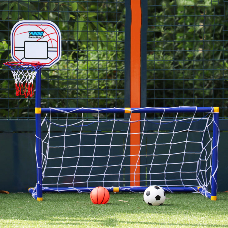 Mini Basketball Stands Kids Gift Football Soccer Goal Training Practice Accessories Outdoor Sports Children Basketball Toy(China)