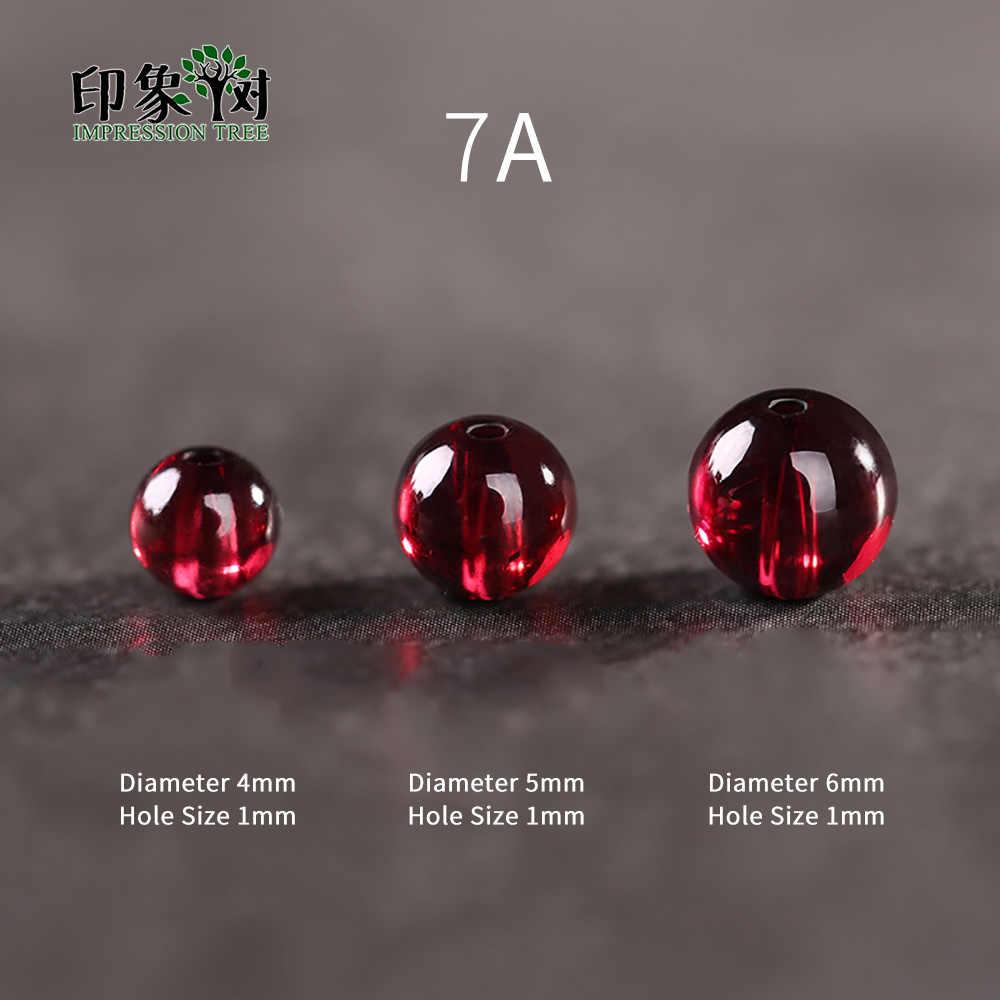 1pcsAAAAAAA + 4/5/6mm טבעי אבן כהה אדום חלק גרנט העגול Loose חרוזים DIY Muilt שורה צמיד שרשרת תכשיטי ביצוע 22015