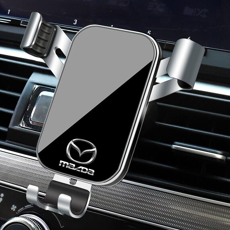 1 шт. Автомобильный держатель для телефона с гравитационным датчиком, подставка для крепления на вентиляционное отверстие, аксессуары для Mazda 3, Mazda 6, Atenza, Axela, Demio, CX3, CX5, MP, MS|Универсальный автомобильный держатель|   | АлиЭкспресс