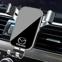 1 pçs suporte do telefone carro gravidade sensoriamento ventilação de ar montagem suporte acessórios para mazda 3 mazda 6 atenza axela demio cx3 cx5 mp ms