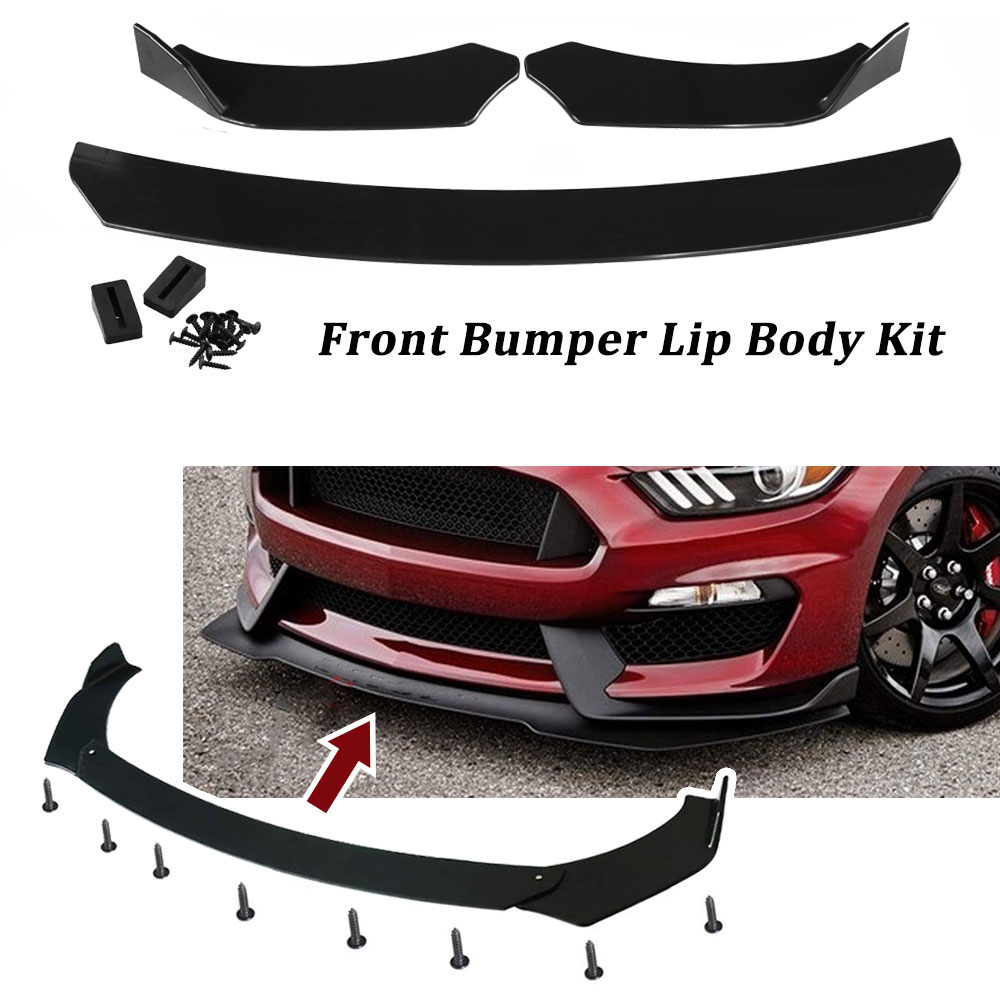 """30/"""" x 12/"""" ABS Black Universal Rear Bumper 4 Fins Curved Diffuser Fin For Nissan"""