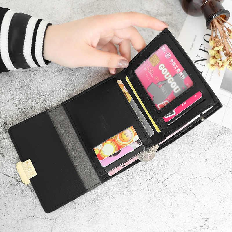 חדש יוקרה ארנק נקבה עור נשים עור ארנק משובץ ארנק גבירותיי חם שינוי כרטיס בעל מטבע קטן ארנקי עבור בנות