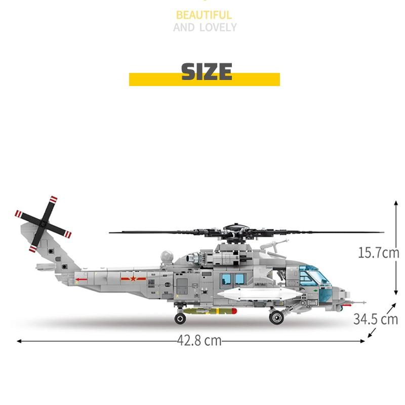 SEMBO Block Z-20 Attack Helicopter Building Blocks