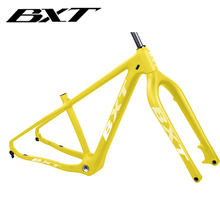 BXT New Carbon Fiber Snow bike fat frame fork 26in Carbon MTB Fat Bicycle Frame 4.8 Fat Tires Beach Bicycle Snow bike Frameset